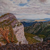 Oil painting Mummy Mountain View by Crystal Dipietro
