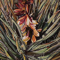 Acrylic painting Yucca by Crystal Dipietro