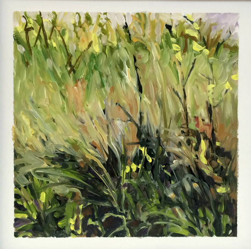 Oil painting Grass #2: Grasslands National Park West Block by Edie Marshall