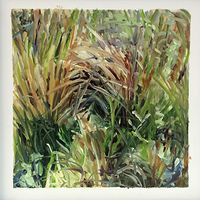 Oil painting Grass #4: Grasslands National Park West Block by Edie Marshall