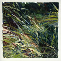 Oil painting Grass #6: Grasslands National Park West Block by Edie Marshall
