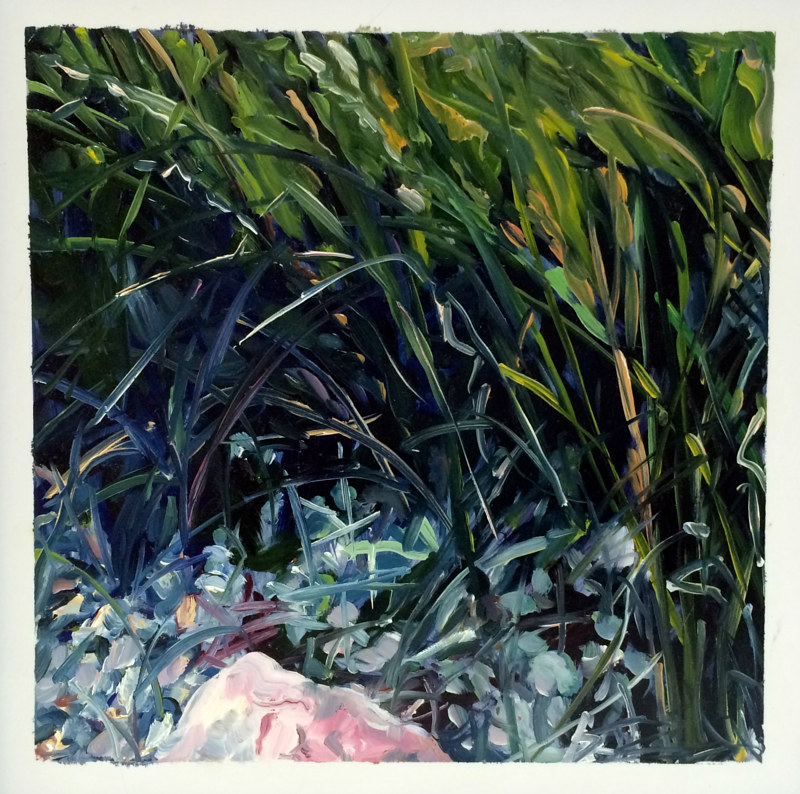 Oil painting Grass #8: Grasslands National Park West Block by Edie Marshall