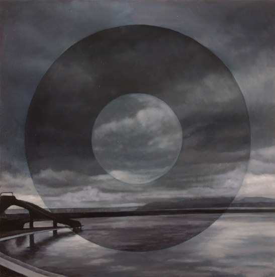 Oil painting Concentric Longing 4 by Renee Duval