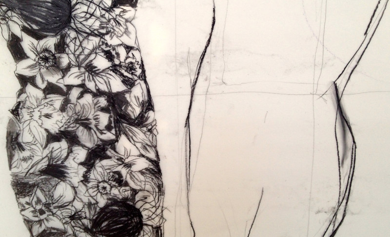 Drawing Narcissus study by Kiki Mcgrath
