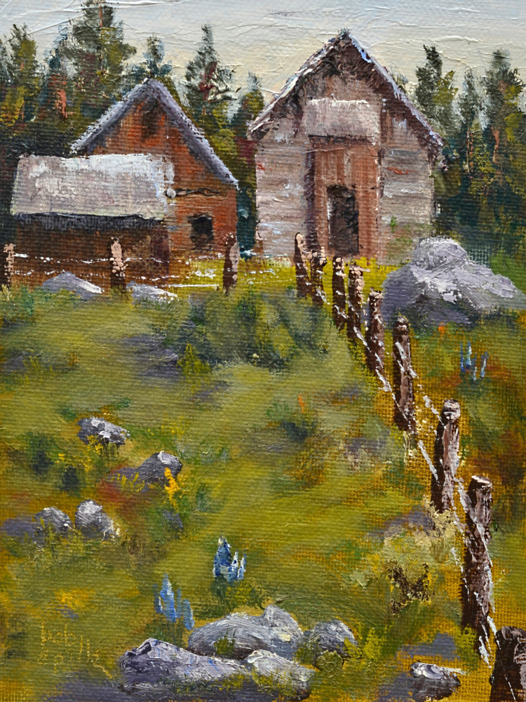 Oil painting Colorado Barns by Bob Spille