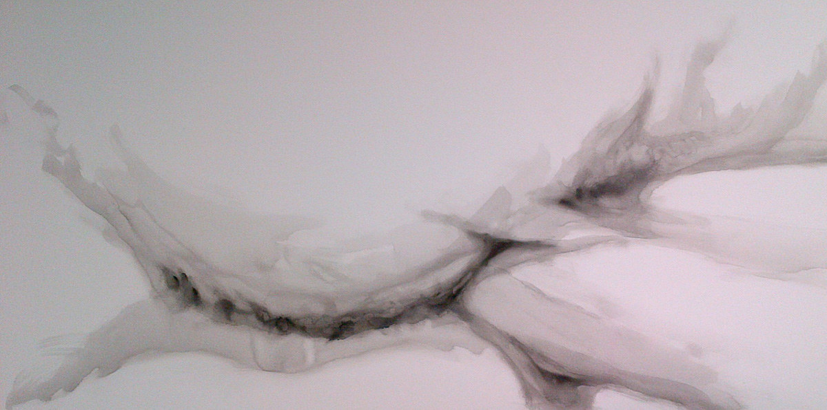 Drawing Solo Exhibition piece, base layer.  by Hendrik Gericke