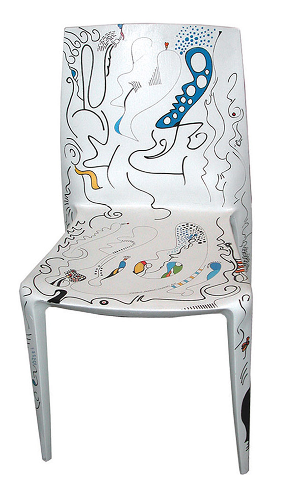 Oil painting Chair | Chaise by Nathalie Gribinski