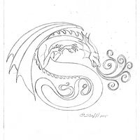 "Drawing hicsuntdraco sketch ""S"" by Sue Ellen Brown"