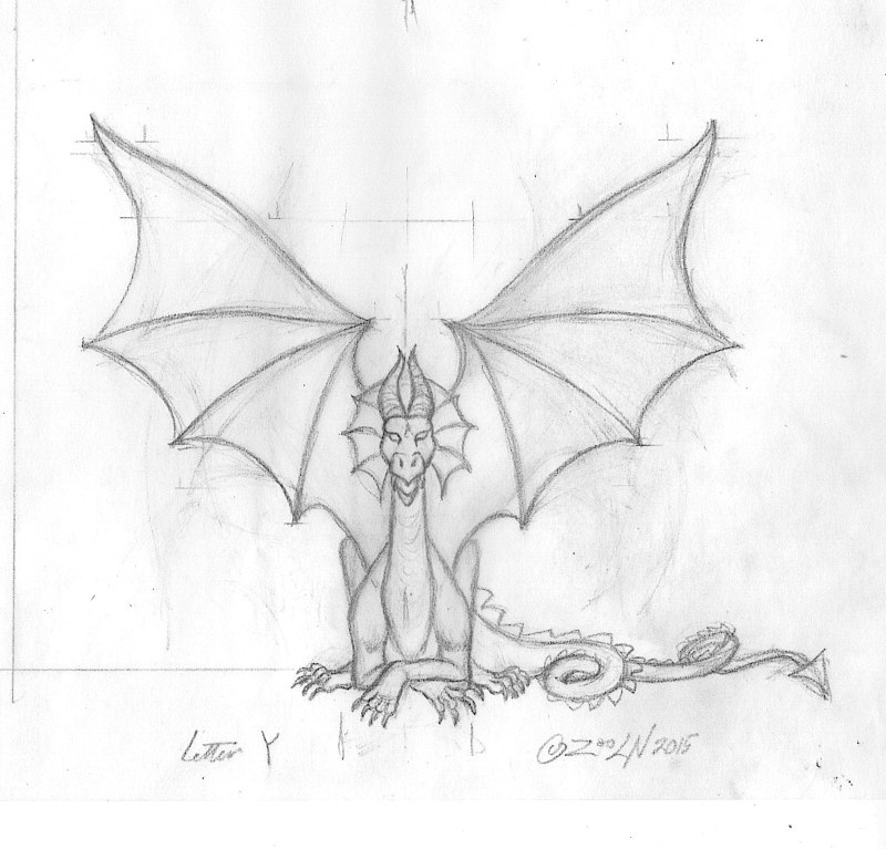 "Drawing hicsuntdraco sketch ""Y""- 2.0 by Sue Ellen Brown"