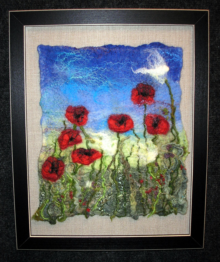 Poppies in the field by Valerie Johnson