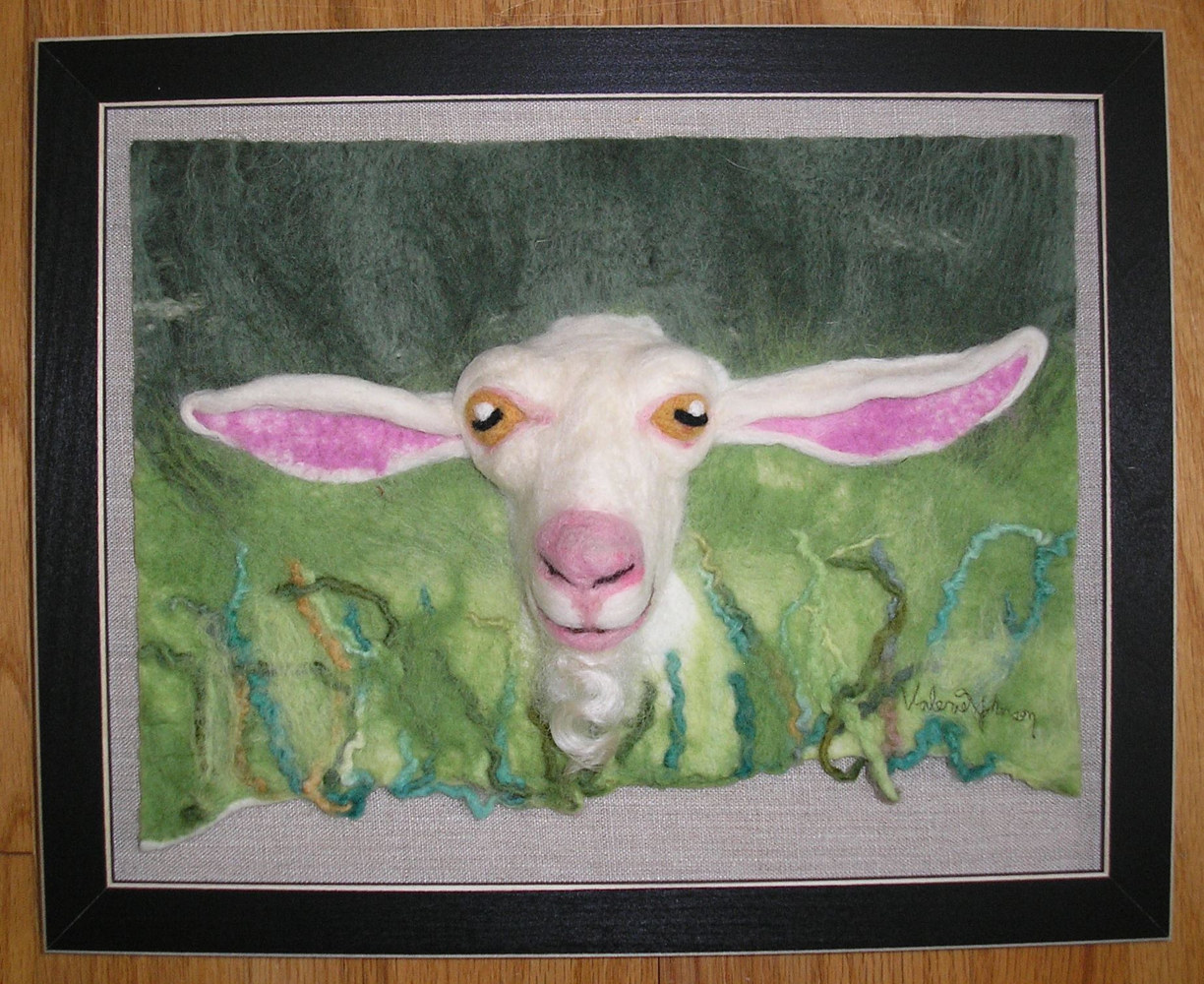 Yoda Goat by Valerie Johnson