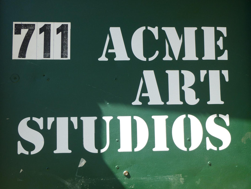 Painting Acmee Art Studios by Dick Roberts