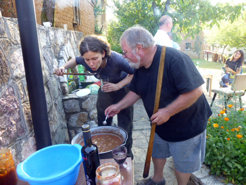 Making goulash with Eva Mayer   Art Point 10 Year Reunion - 2013 by Dick Roberts