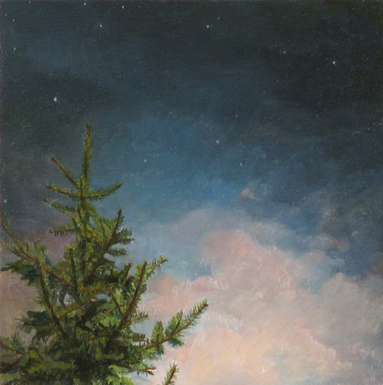 Oil painting O Canada Night by Renee Duval