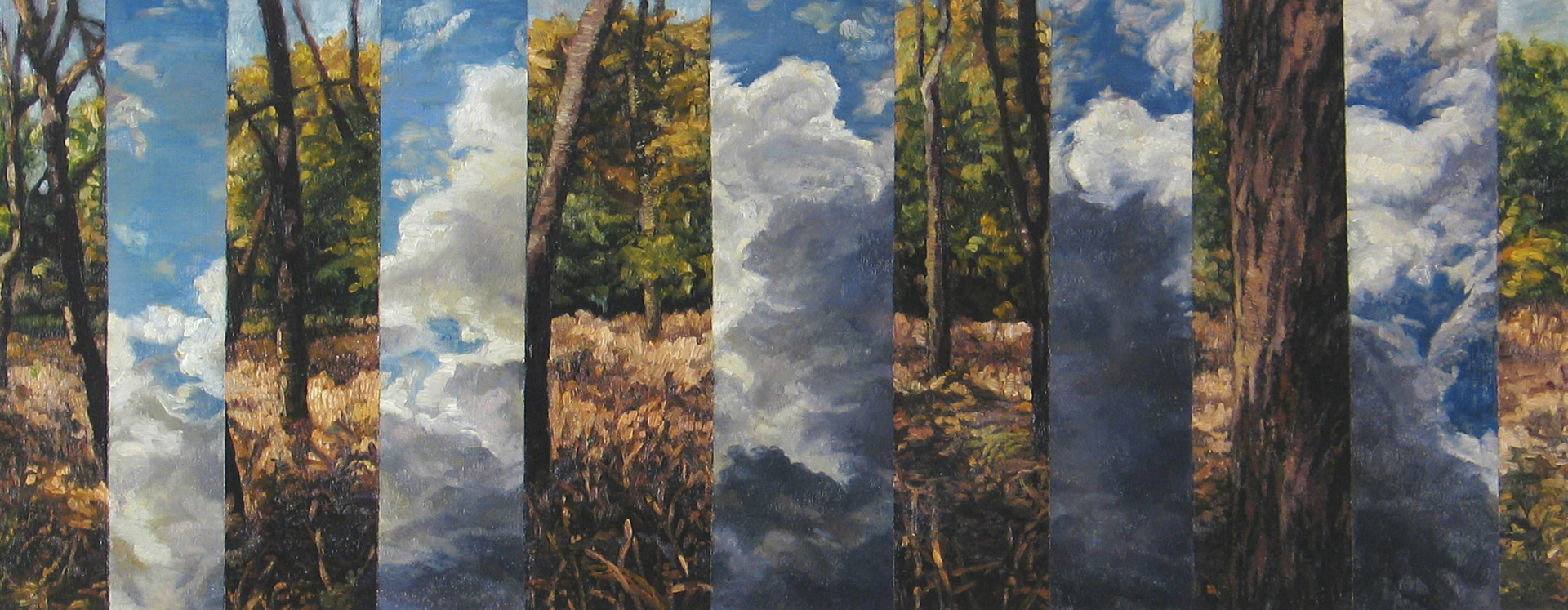 Oil painting Entre Ciel et Terre (mont royal) by Renee Duval