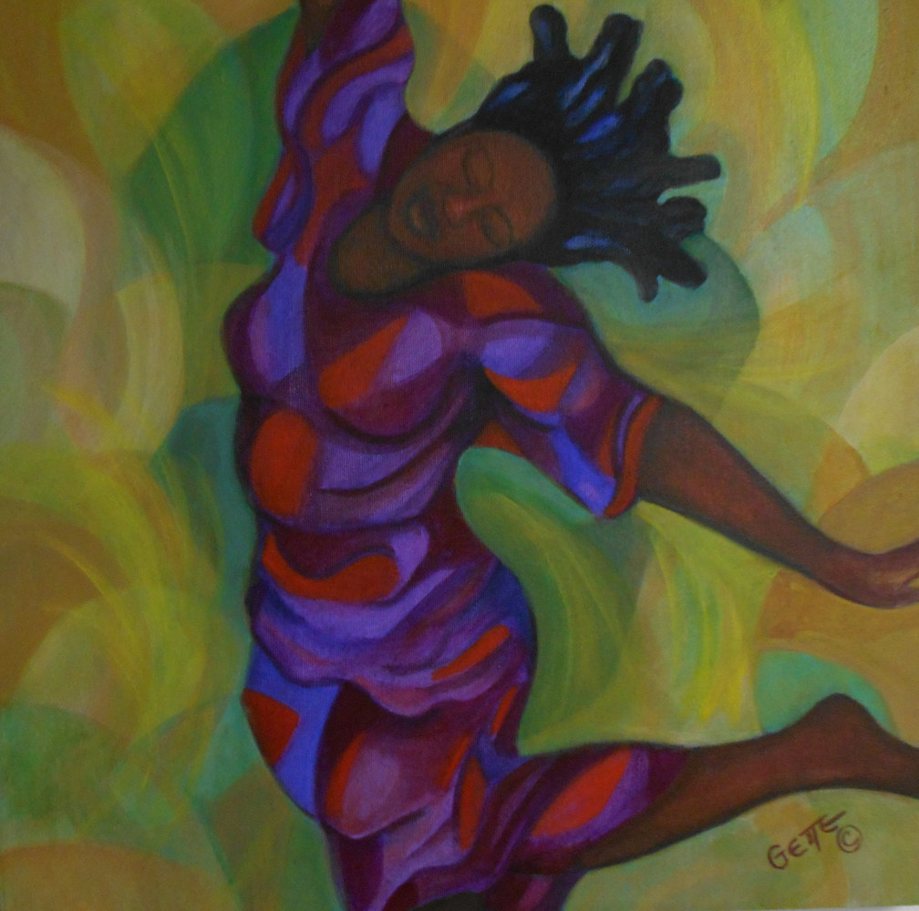 "Acrylic painting ""ALONE AND DANCING'' by Georgette  Jones"