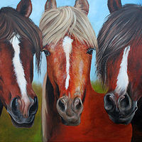 Painting Trio by Debbie Hart