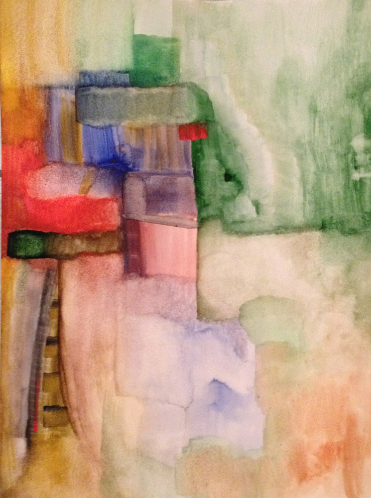 Watercolor Stairway to Heaven | Les Marches du Paradis by Nathalie Gribinski