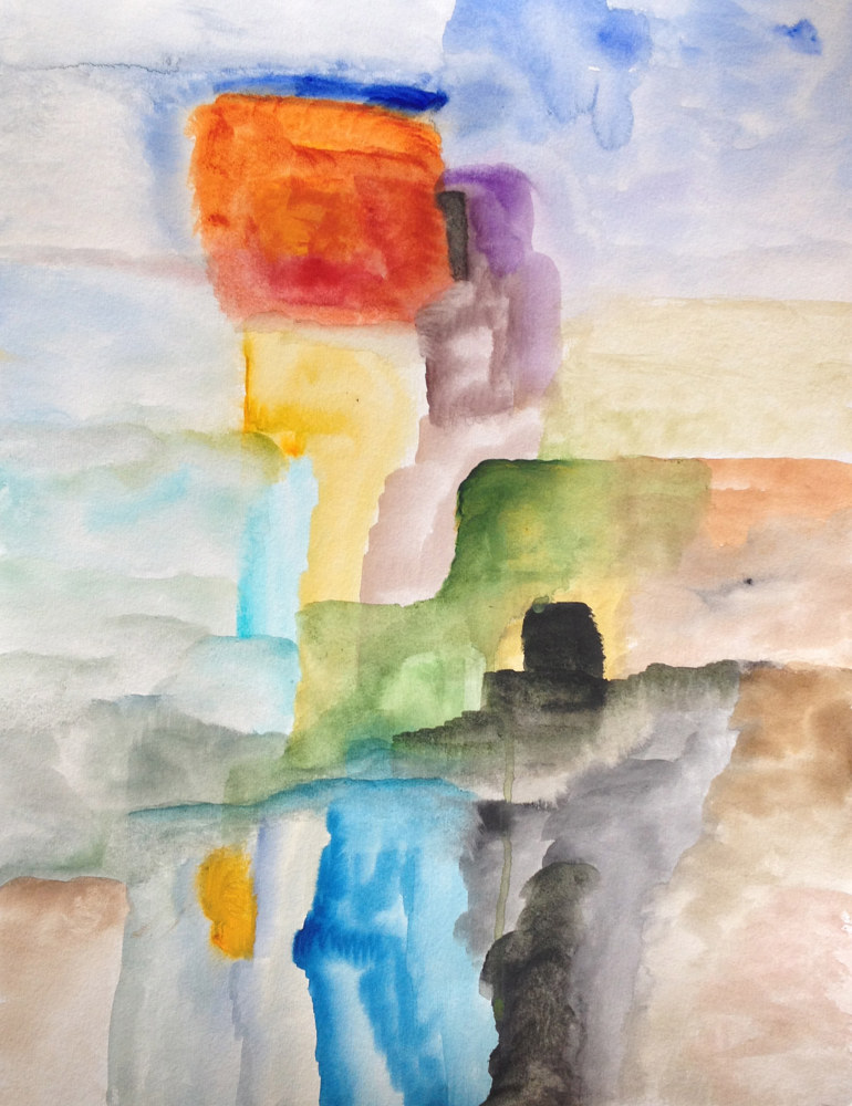 Watercolor Menhir  by Nathalie Gribinski