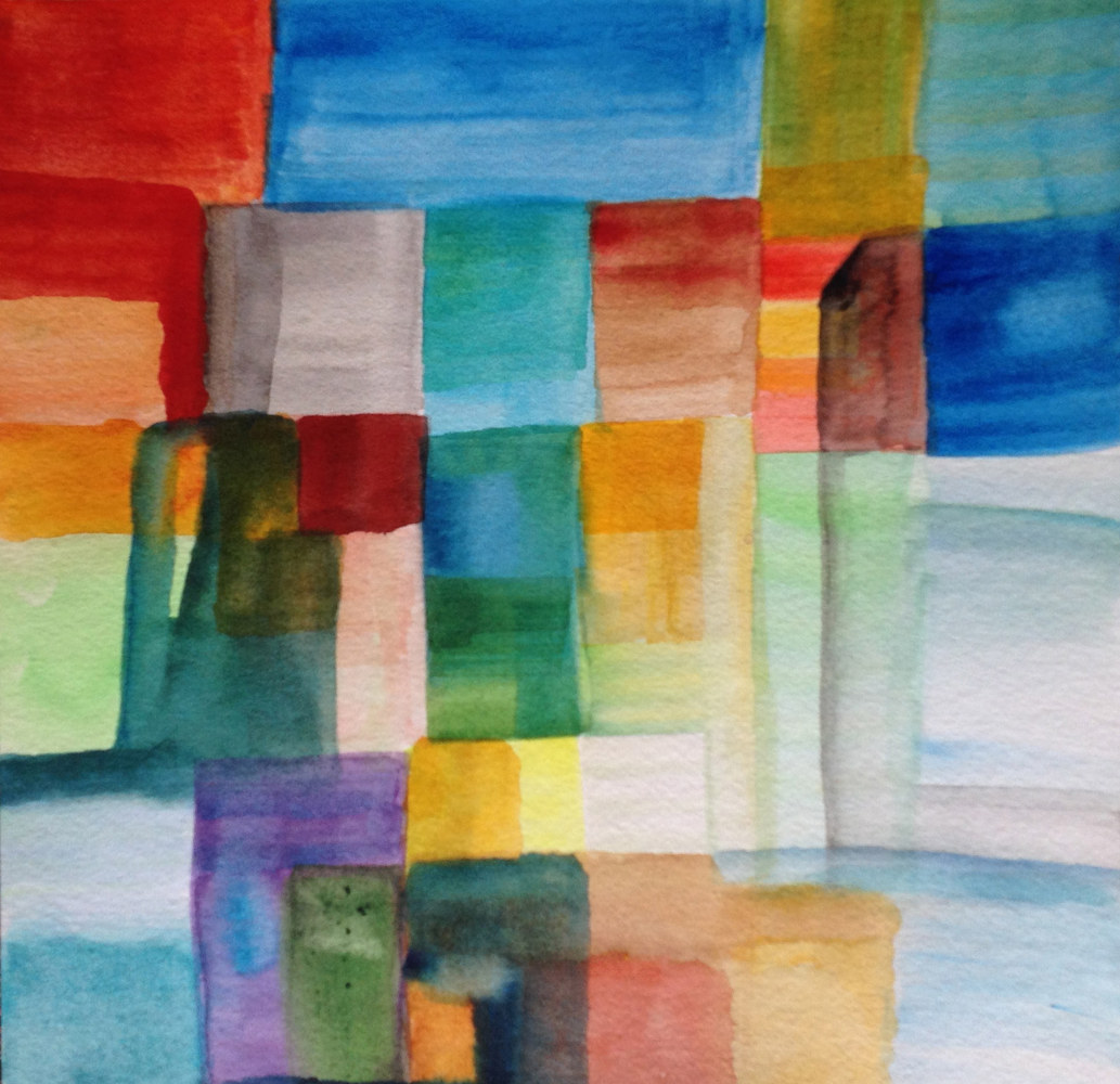 Watercolor Traffic | Embouteillage by Nathalie Gribinski