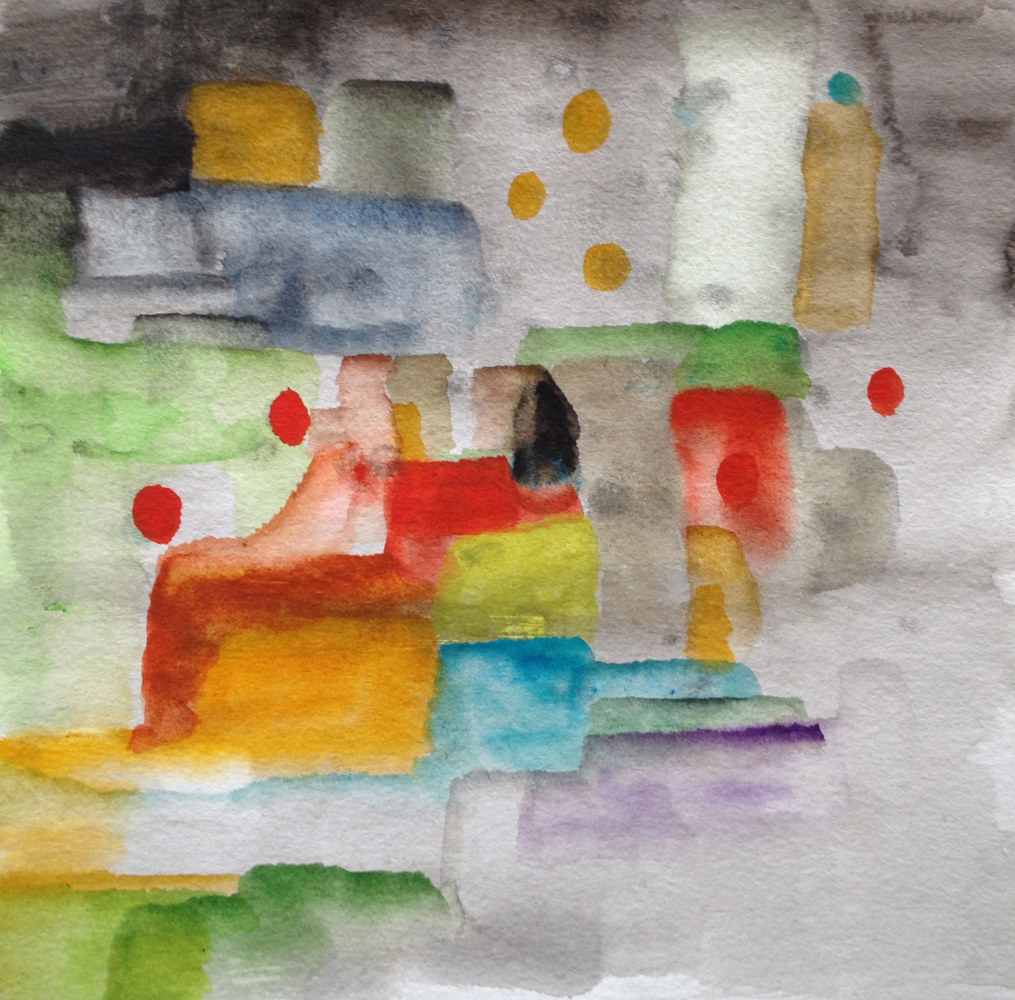 Watercolor At the Therapeut | Chez le Psychologue by Nathalie Gribinski
