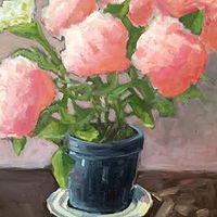 Oil painting Hydrangea - SOLD by Sarah Trundle
