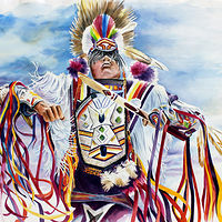Watercolor The Grass Dancer by Debbie Hart