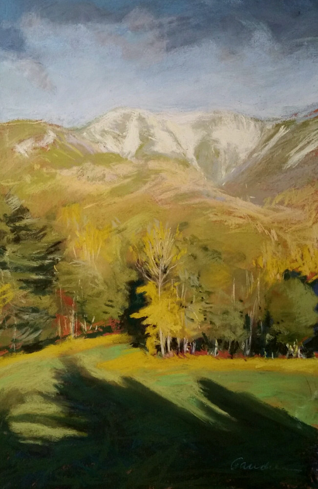 Painting october snow.Giant Mt pastel 11x17in  by Michael  Gaudreau