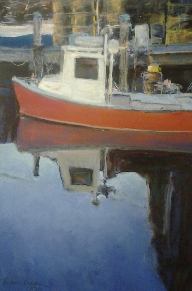 Painting portland harbor 1 by Michael  Gaudreau