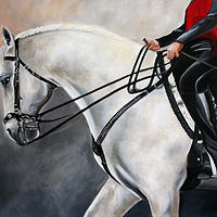Painting The Show Horse by Debbie Hart