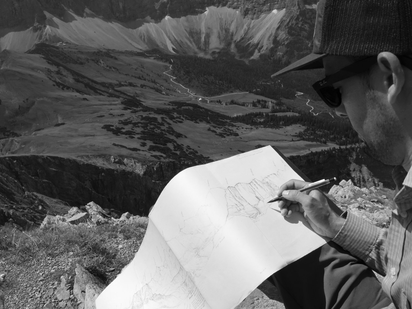 Drawing at Steinfalke, Karwendel by Matthew Rangel