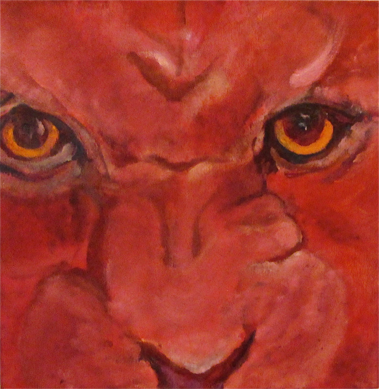 Oil painting The Barbary lion by Frederica  Hall