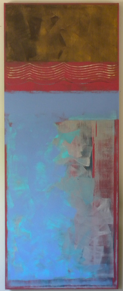 "Painting ""Interference Red"" by Gordon Sellen"