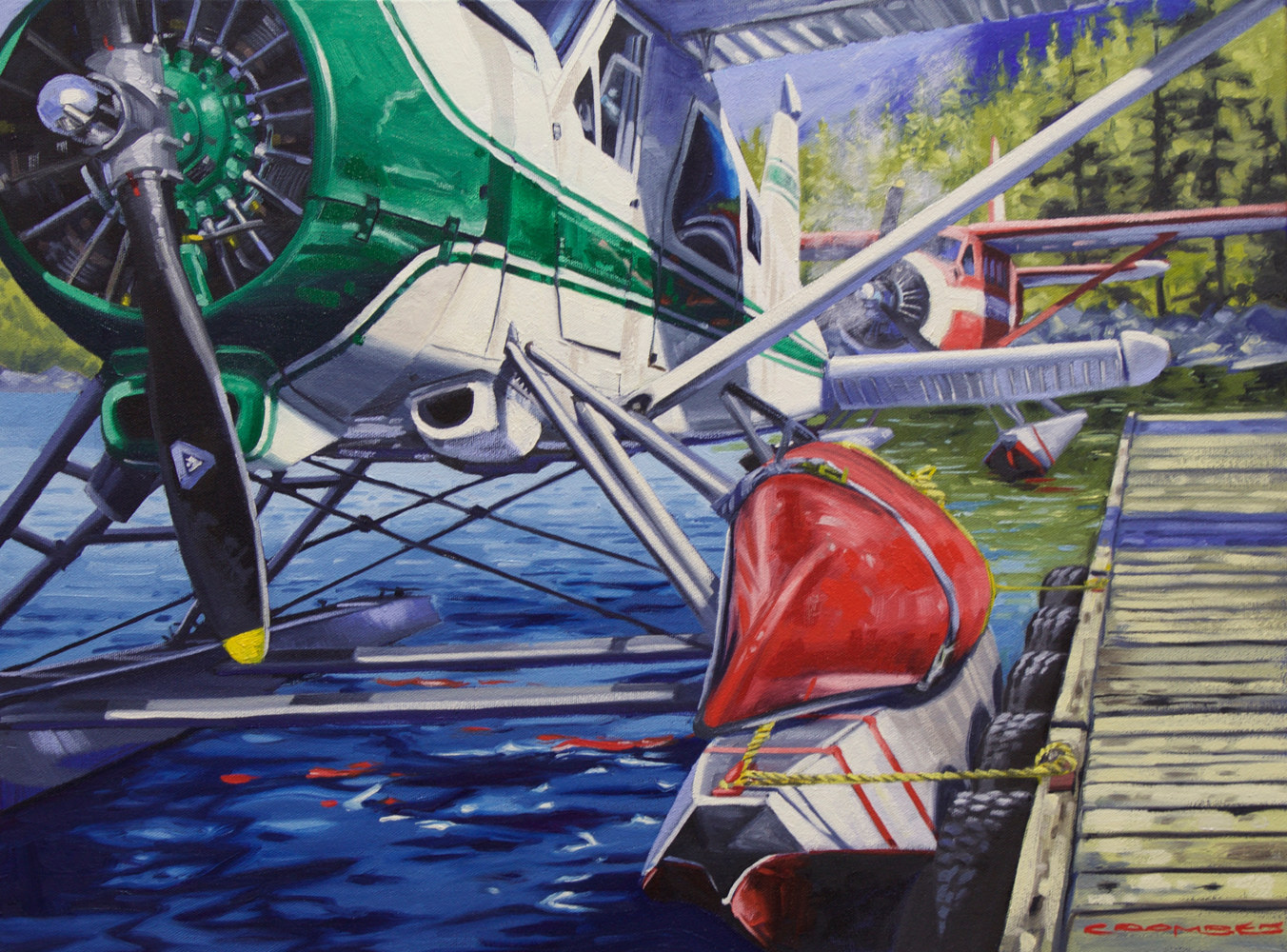 Oil painting Parallel Planes of Adventure by Bryan  Coombes
