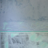 "Painting ""Blue & Grey Interference"" by Gordon Sellen"