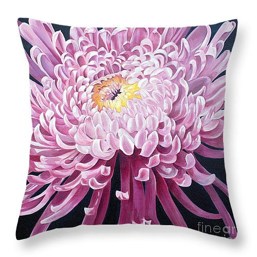 Print mum throw pillow by Debbie Hart