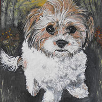 dog painting 2 (515x640) by Ron Buttler