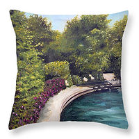 Painting Naperville 2 Throw Pillow by Debbie Hart