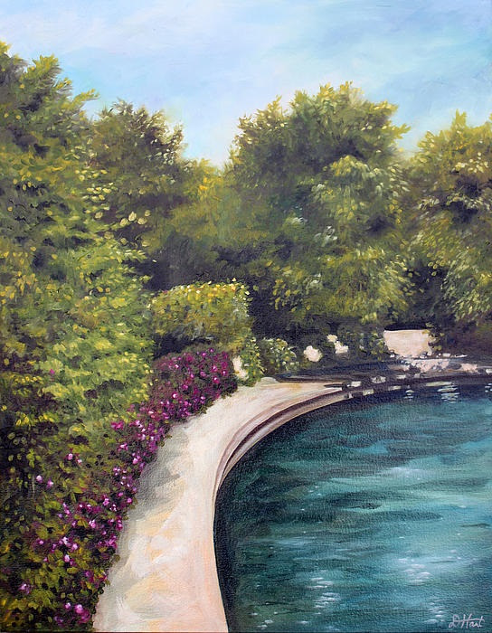 Oil painting Naperville Riverwalk 2 by Debbie Hart
