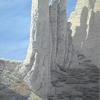 Oil painting Summerland Hoodoos $1200.00 by Vicki Beamish