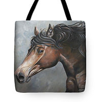 Print Fiery Andalusian Tote by Debbie Hart