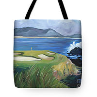 Print Pebble Beach tote by Debbie Hart