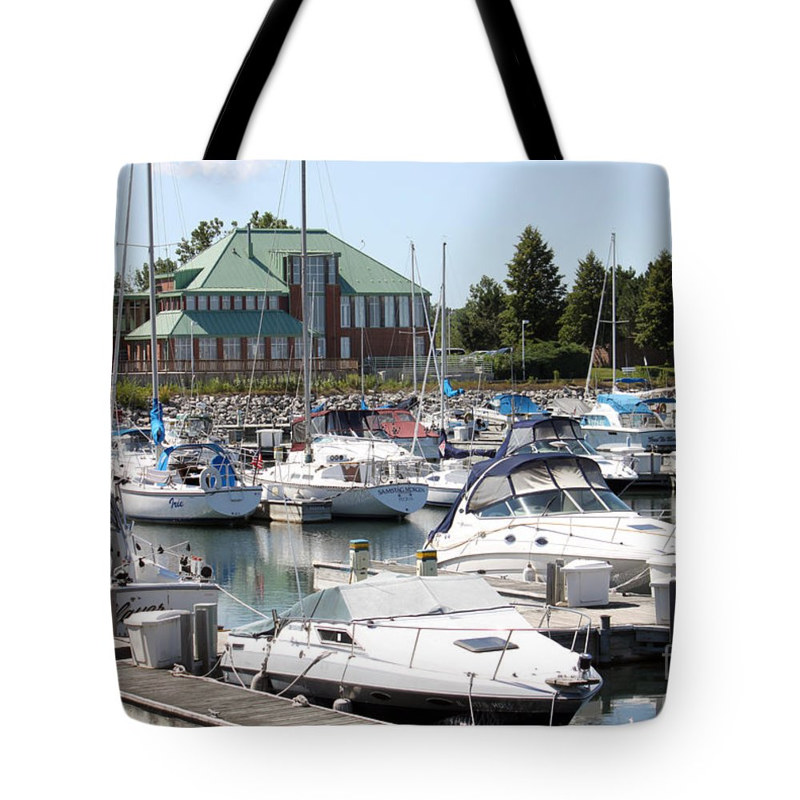 Print Winthrop Harbor - Lake Michigan Tote by Debbie Hart