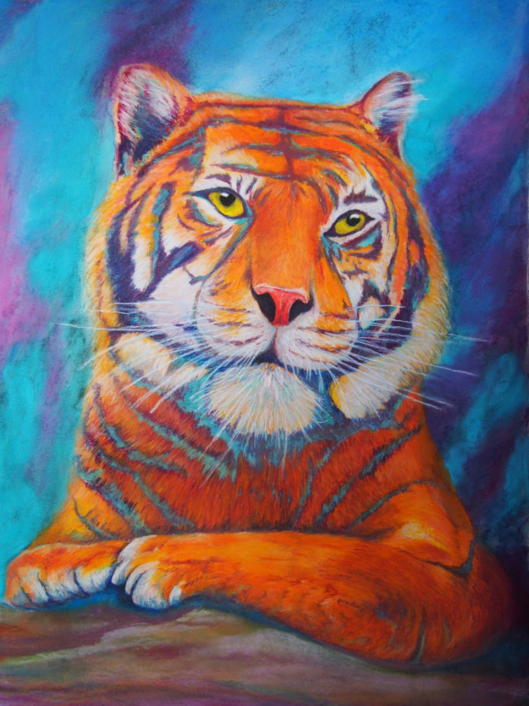 Painting Regal Tiger by Brent Ciccone
