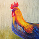 Painting Funky Chicken by Brent Ciccone