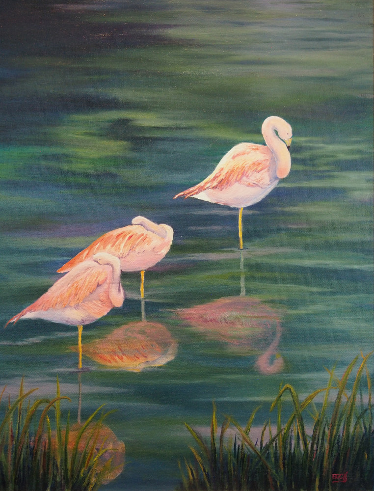 Oil painting Pretty in Pink by Brent Ciccone