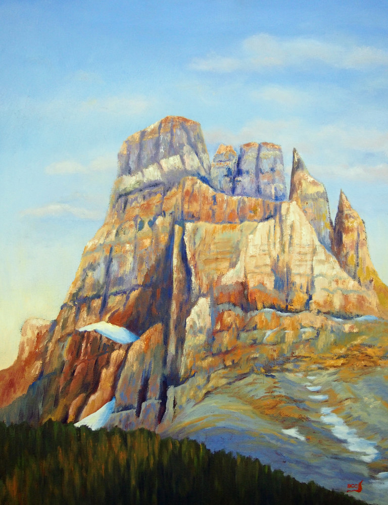 Oil painting Castle Mountain by Brent Ciccone