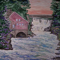 Oil painting Old St. Georges Mill-New Brunswick by Gary Doll