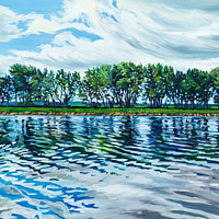 Oil painting Sugar Island by Michael McEwing