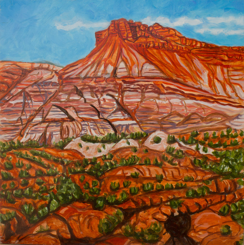Oil painting Pahreah (small) by Crystal Dipietro